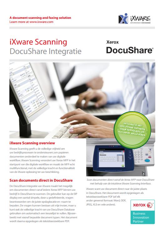 iXware Scanning integratie met DocuShare