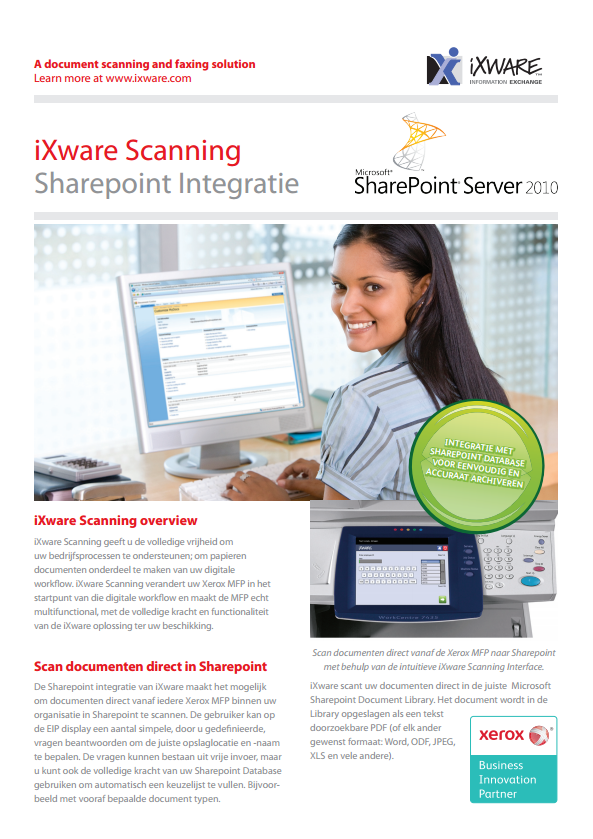 iXware Scanning integratie met SharePoint